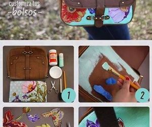 diy, bag, and flowers image