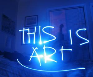 blue and light graffiti image