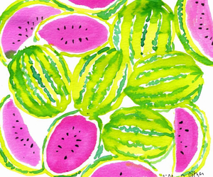 fruit, watermelon, and pink image