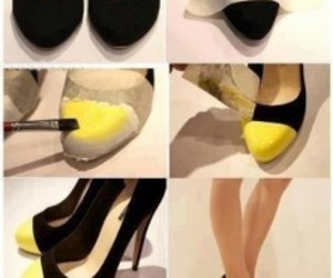 shoes, diy, and yellow image
