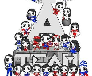 a team, art, and doodle image