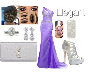dress, night, and Polyvore image