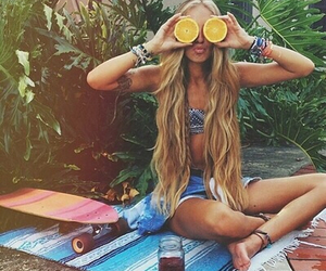 beach, hipster, and long hair image