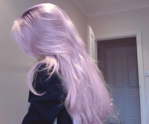 pale and purple hair image