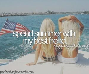 summer, best friends, and friends image