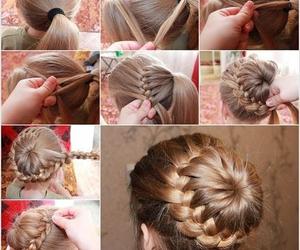 braid, instructions, and braid bun image