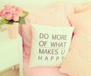 pink, happy, and pillow image