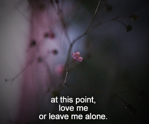 love, quotes, and alone image