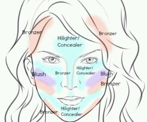 face, makeup, and beauty image