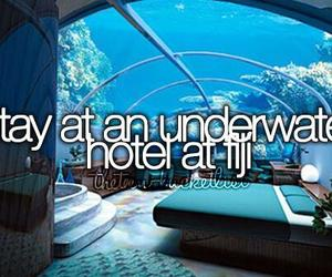 fiji, underwater, and hotel image