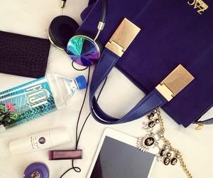 bag, headphones, and water image