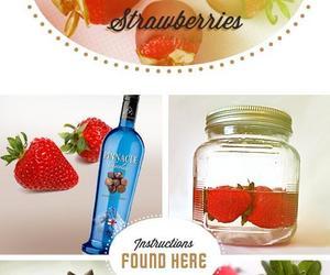 strawberry, diy, and vodka image