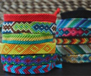 bracelet, colorful, and rainbow image