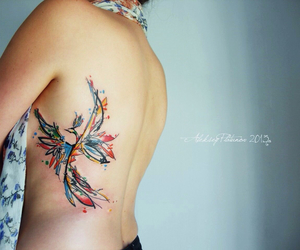 bird, tattoo, and color image