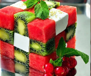 fruit, squared, and watermelone image