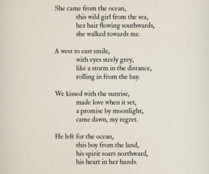 mermaid, poem, and love image
