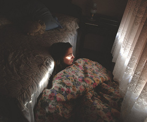 girl, vintage, and alone image