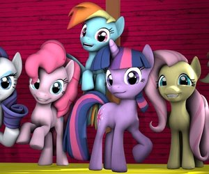MLP, my little pony, and mane 6 image