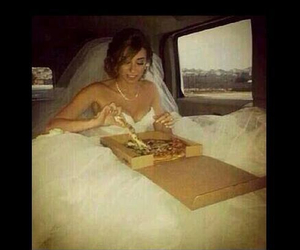 pizza, wedding, and love image