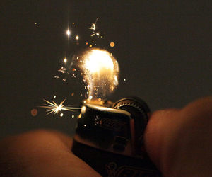 fire, lighter, and light image