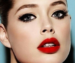 make up, red, and Doutzen Kroes image