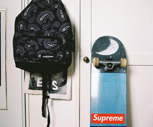 skate, supreme, and skateboard image