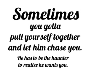 chase, realize, and Relationship image