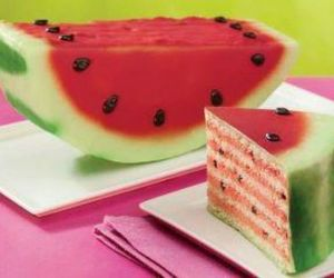 cake, watermelon, and food image