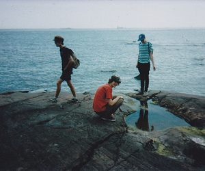 boy, hipster, and sea image