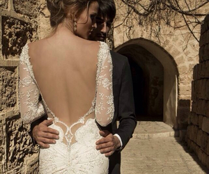 backless, bride, and dress image