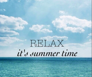 relax, summer, and sun image