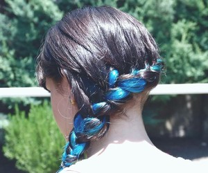 blue, braid, and hairstyles image
