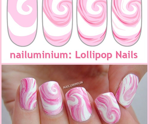 nails, nice, and pink image