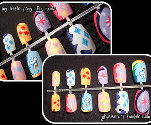MLP, my little pony, and nail art image