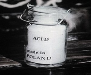 acid, black and white, and die image