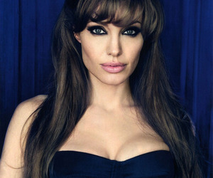 Angelina Jolie, hair, and woman image