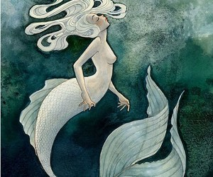 mermaid, art, and girl image