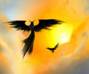 sky, wings, and maleficent image