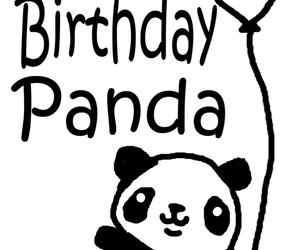 ballon, happy birthday, and panda image