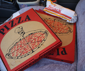 pizza, food, and snack image