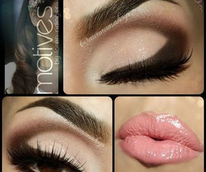 make up, makeup, and lips image