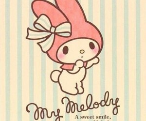my melody, cute, and pastel image