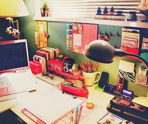 desk, room, and school image