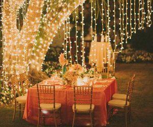 light, dinner, and night image