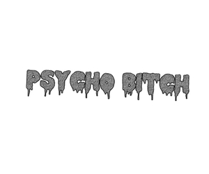 b&w, bitch, and Psycho image