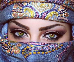 eyes, makeup, and muslim image