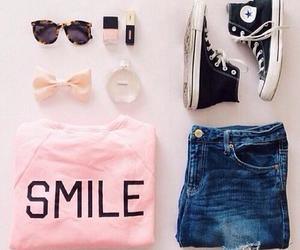 fashion, smile, and outfit image
