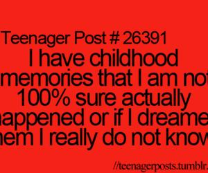 teenager post, childhood, and memories image