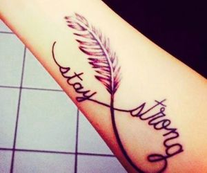 tattoo, quote, and stay strong image