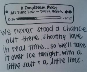 all time low, crush, and a daydream away image